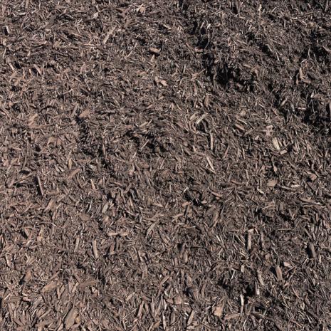 mulch double ground brown