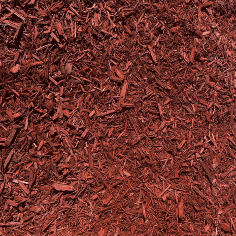 mulch double ground red